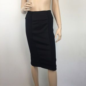 Bebe Black paneled Pencil Skirt 8